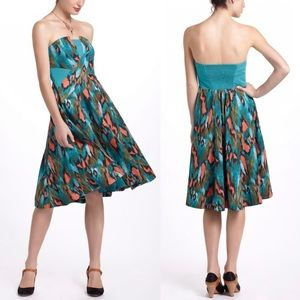 Anthro Girls From Savoy Painted Ikat Dress